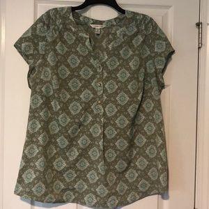 Croft & Borrow green blouse size 1x